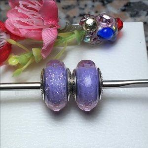 Pandora charms purple shimmers